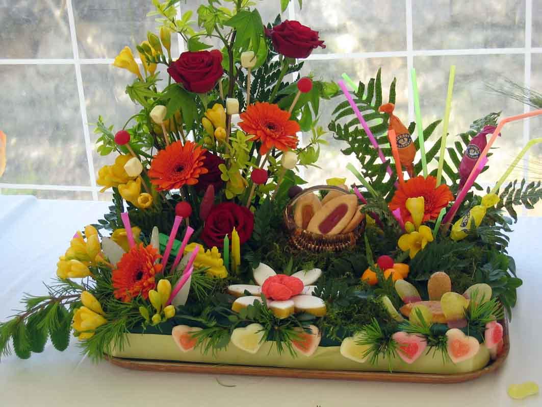 Compositions florales - Composition florale avec fruits legumes ...